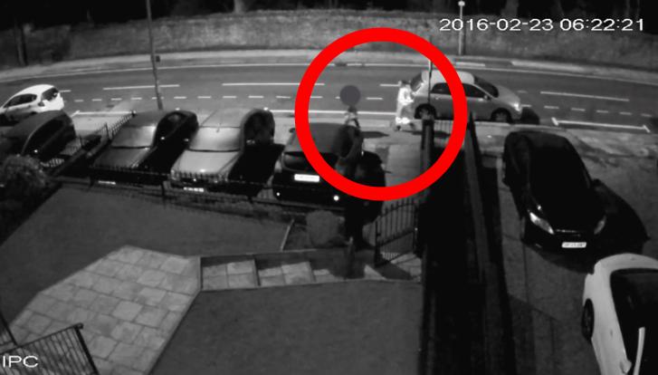 Half Edge Lane CCTV attacker