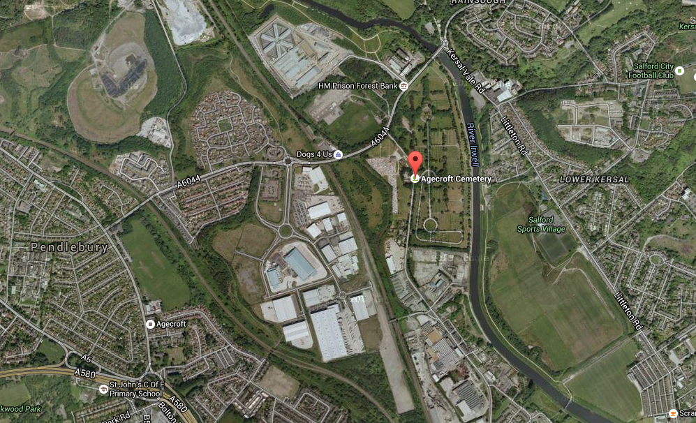 Agecroft - Google Satellite