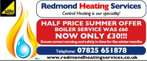 Redmond Heating small banner