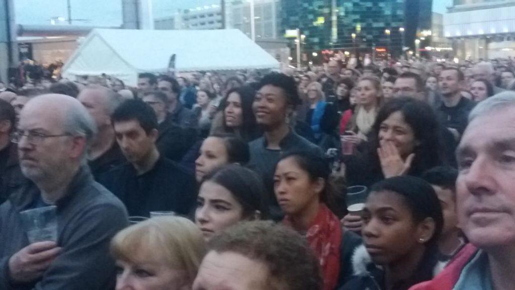 'Broken' crowd packs out Piazza at MediaCityUK