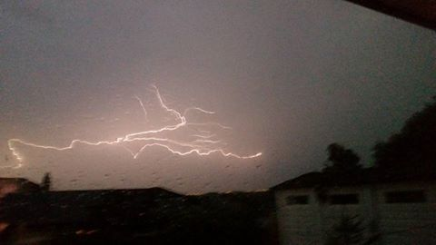 Lightning over Pendlebury - By Amanda Regan