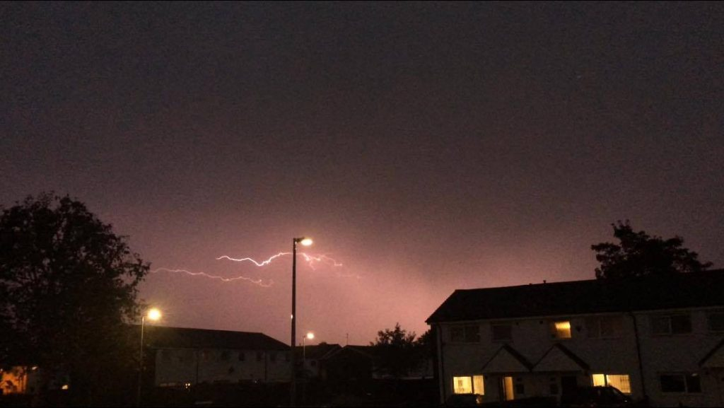Lightning over Heath Avenue, Lower Broughton - By Chris Hudson