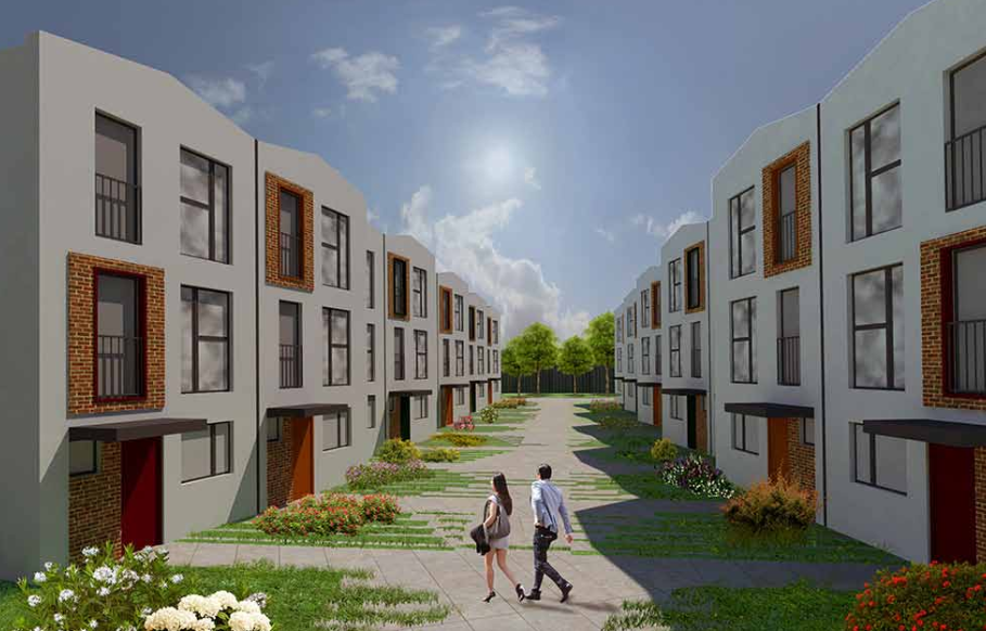 Salford Crescent Police HQ - Stama CGI townhouses