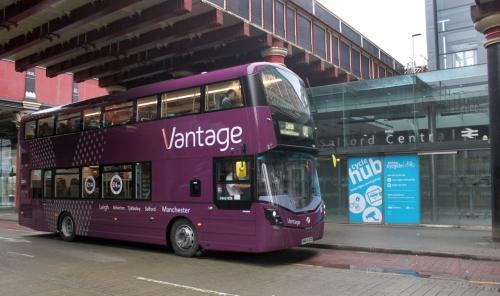 Vantage at Salford Central Station