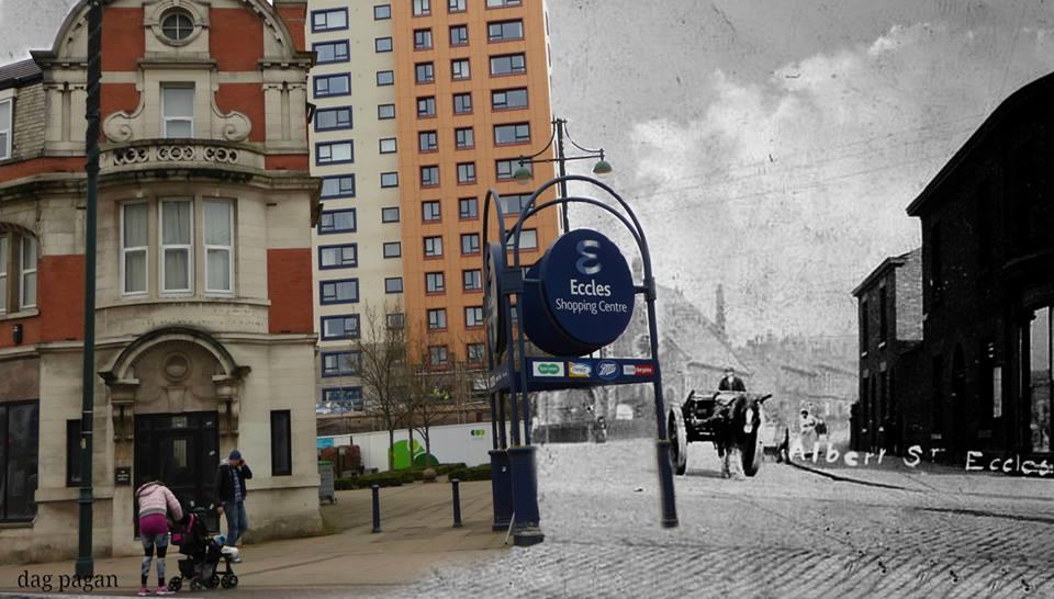 Albert Street in Eccles - past and present