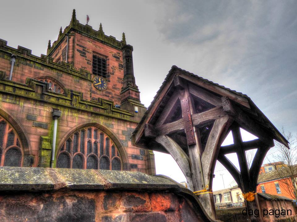 Dreamy shot of St Mary's Church, Eccles