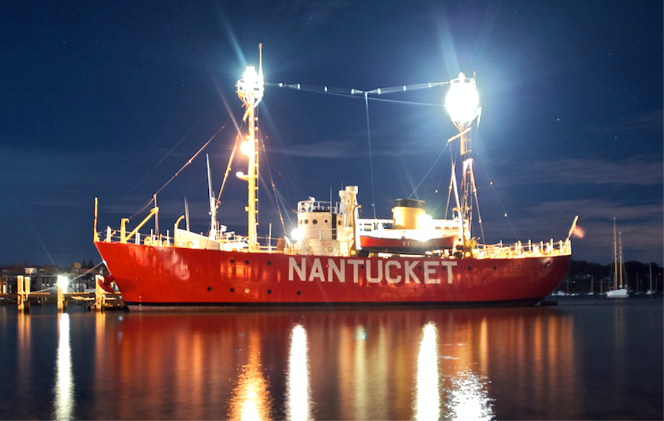 The Lightship Nantucket is a floating lighthouse marking the dangerous rocks on the east coast of North America