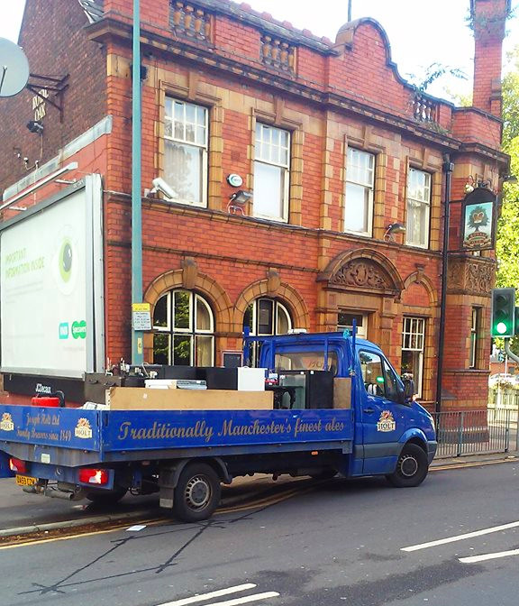 Fridges and furniture stripped out of th Royal Oak, Eccles
